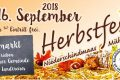 Herbstfest am 16. September
