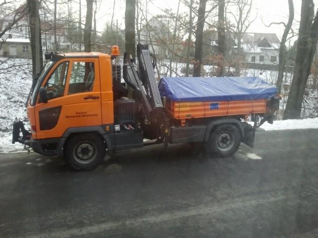 Neuer Multicar mit Ladekran