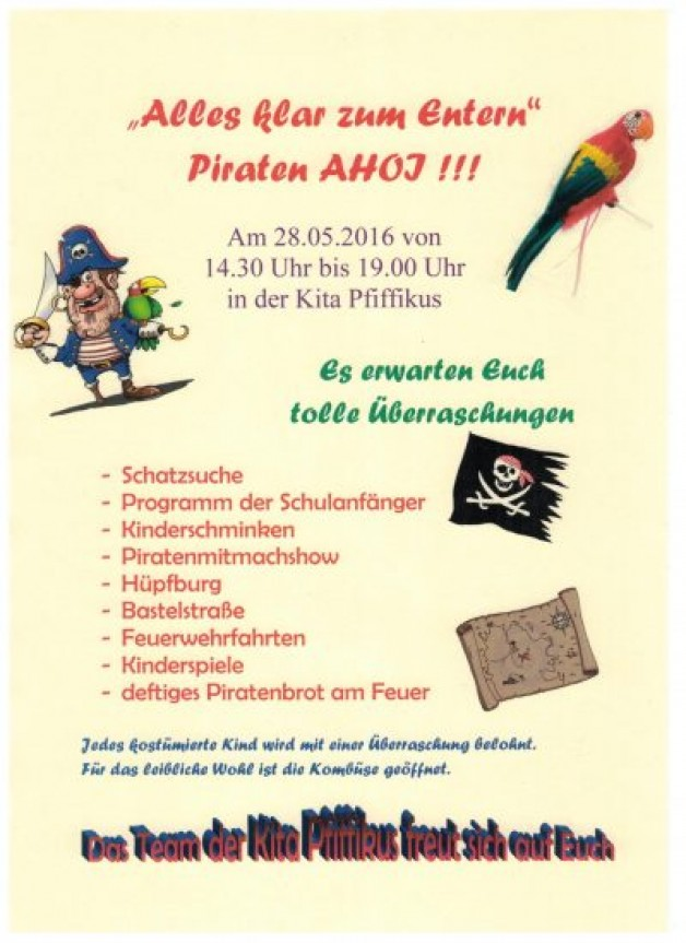 Piratenfest am 28.05.2016