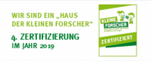 """4.Zertifizierung """"Haus der kleinen Forscher"""""""