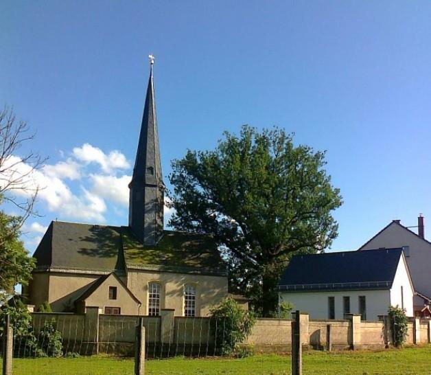 Kirche Niederschindmaas, Pressefoto von Zukunftsregion Zwickau 2014